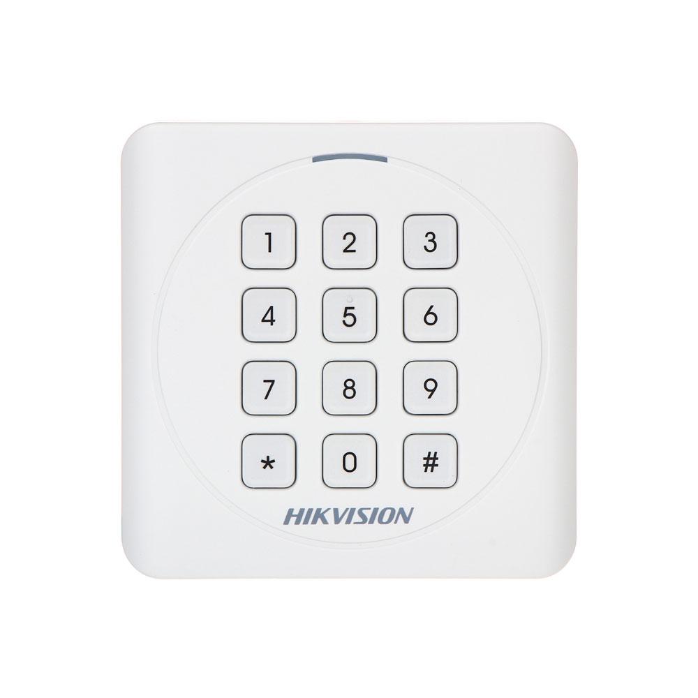 Cititor de proximitate cu tastatura RFID Hikvision DS-K1801MK, Mifare, 13.56 MHz, interior/exterior