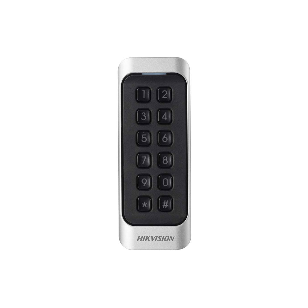 Cititor de proximitate RFID cu tastatura Hikvision DS-K1107EK, EM, PIN/card, 125 KHz, interior/exterior imagine