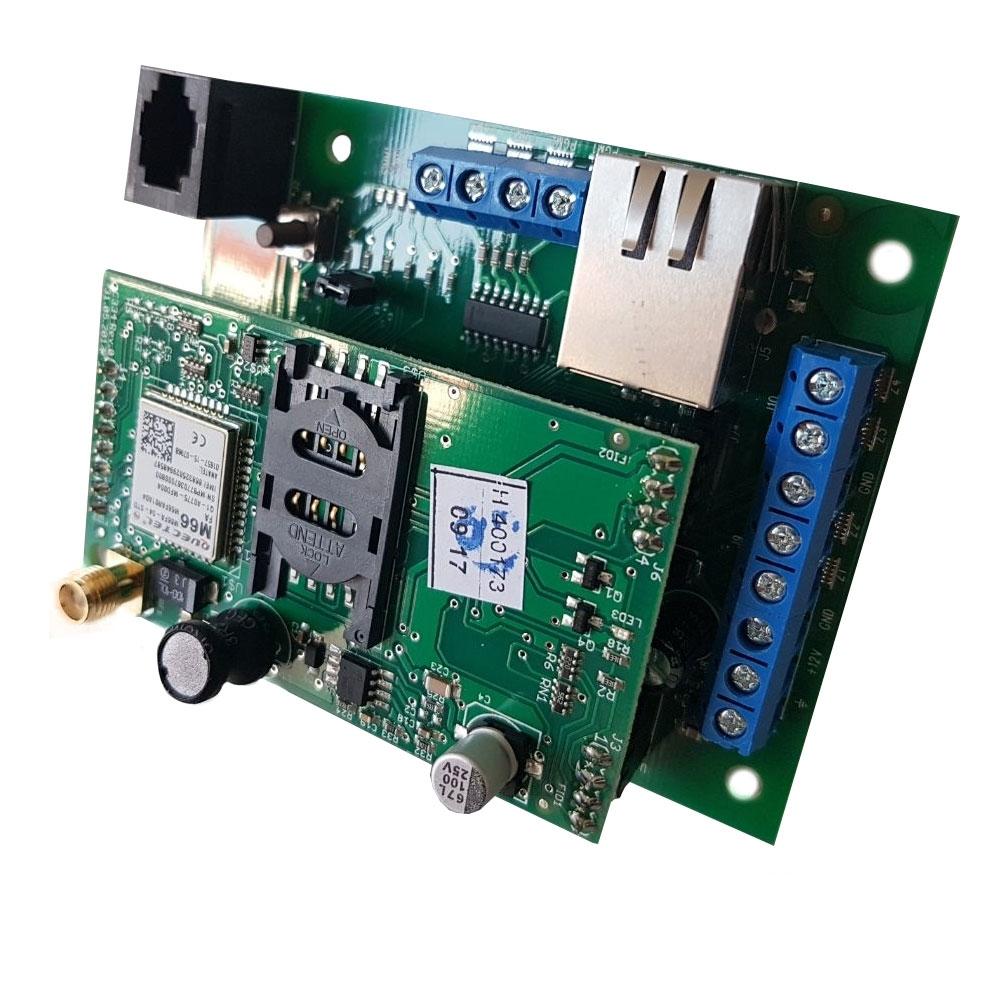 Comunicator universal Roel MultiCOMM IP/GPRS - u PCB, 4 intrari, 4 iesiri