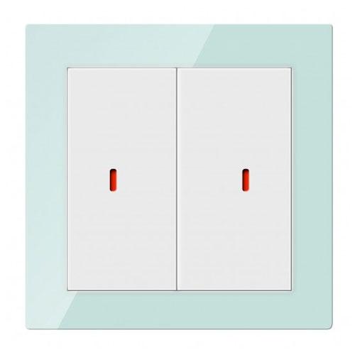 Comutator inteligent CHKP-02/01.1.10, 2 canale, sticla, secvente programabile