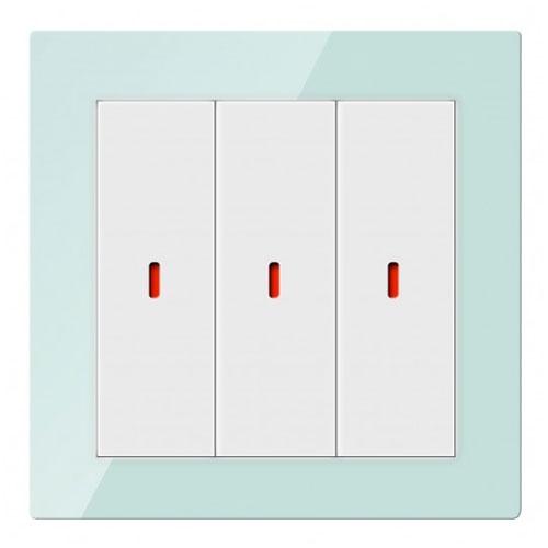 Comutator inteligent CHKP-03/01.1.10, 3 canale, sticla, operare multipla