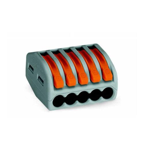 Conector PCT-215 pentru 5 fire 0.75 - 2.5 mm2, 10 BUC imagine spy-shop.ro 2021