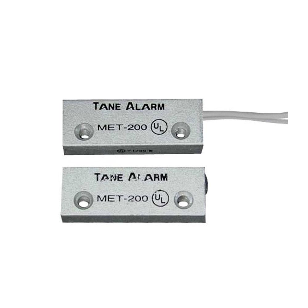 Contact magnetic din aluminiu MET-200, interspatiu 32 mm, reed NO imagine spy-shop.ro 2021
