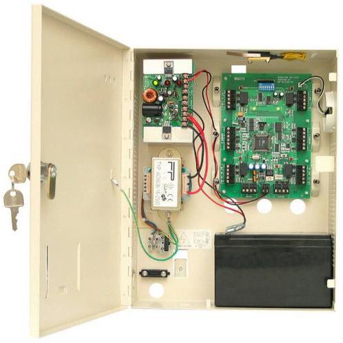 Centrala de acces in carcasa ROSSLARE AC-215-BE, 5000 utilizatori, 5000 evenimente, 4 intrari/iesiri imagine