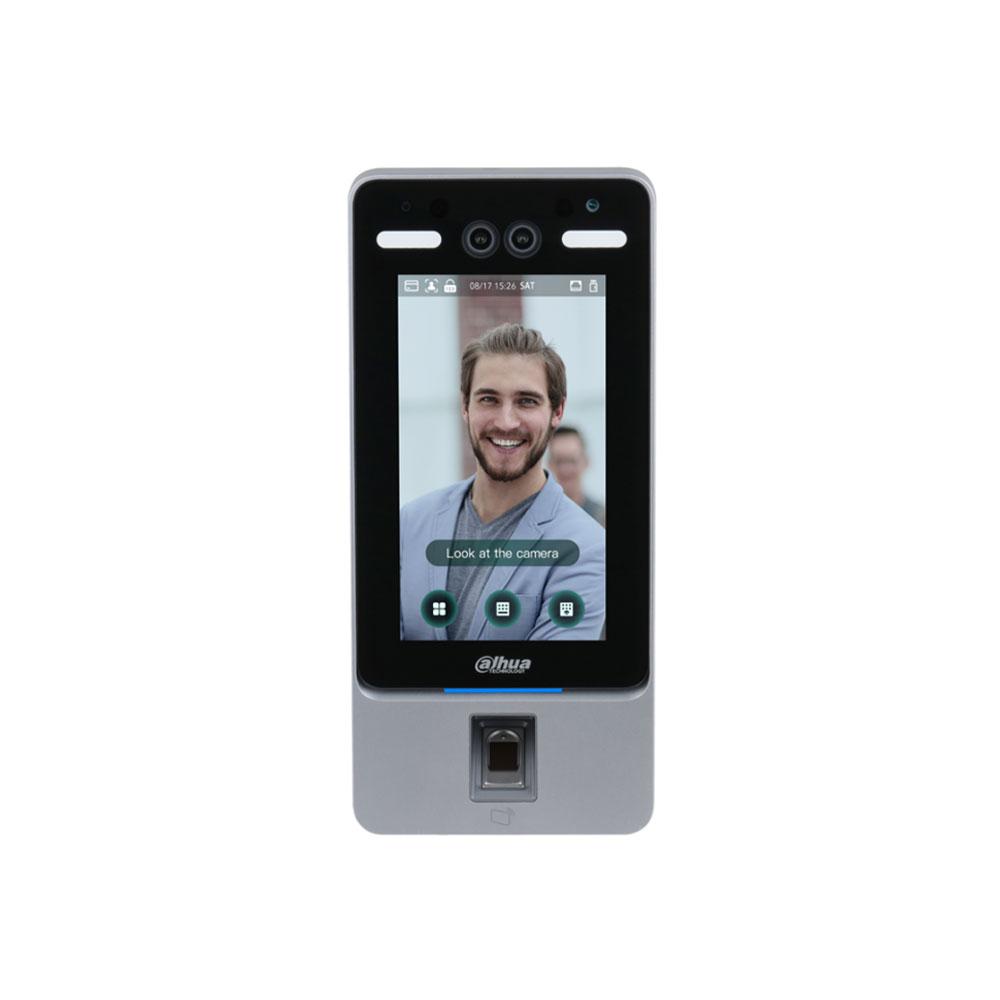 Controler de acces facial IP Dahua ASI7214Y-V3, IC card, amprenta, cod PIN, 50.000 utilizatori, 100.000 evenimente
