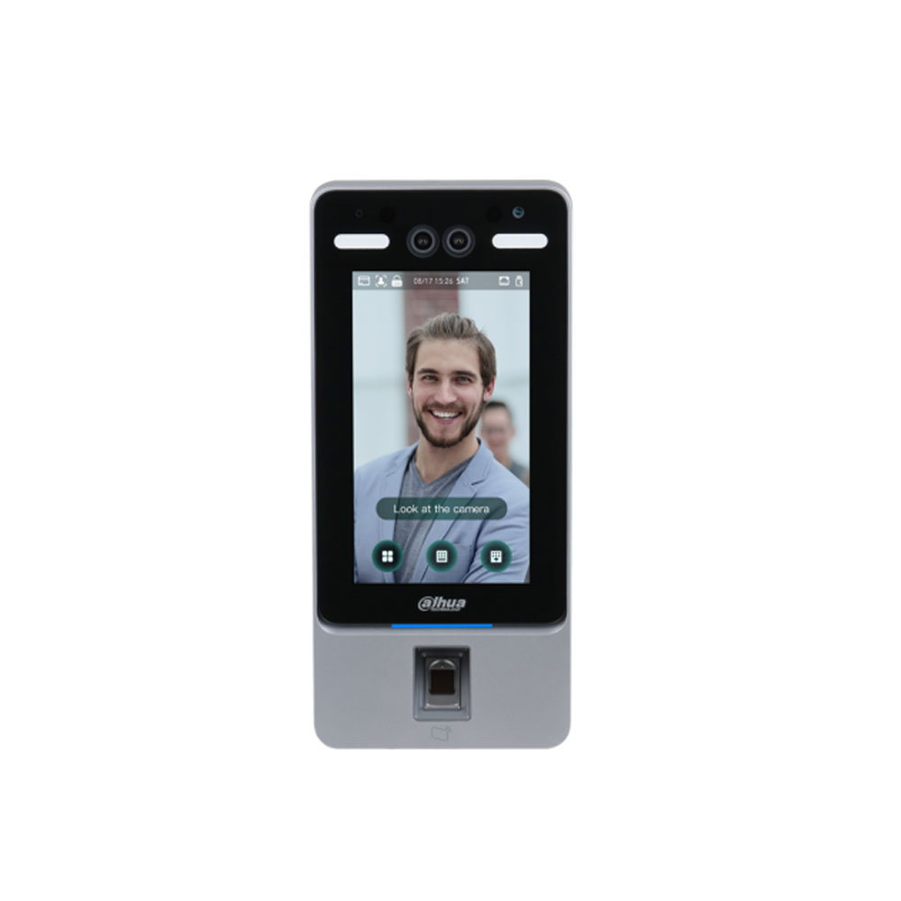 Controler de acces facial IP Dahua ASI4214Y, 2 MP, 7 inch, IC card, cod PIN, amprenta, 2.000 utilizatori, 100.000 evenimente