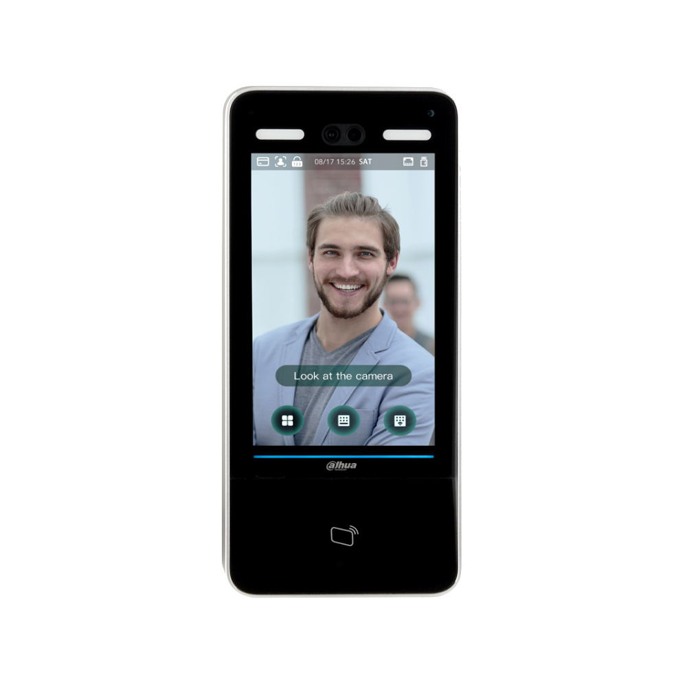 Controler de acces facial IP Dahua ASI8213Y-V3, facial/cartela/parola, 100.000 utilizatori, 100.000 cartele, 100.000 evenimente