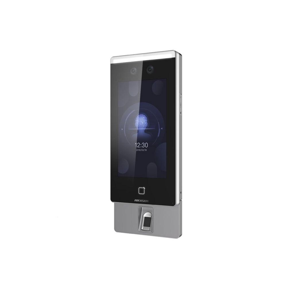 Controler de acces facial IP Hikvision DS-K1T671MF, fata/card/amprenta, 5.000 amprente, 6.000 carduri, 50.000 evenimente imagine spy-shop.ro 2021