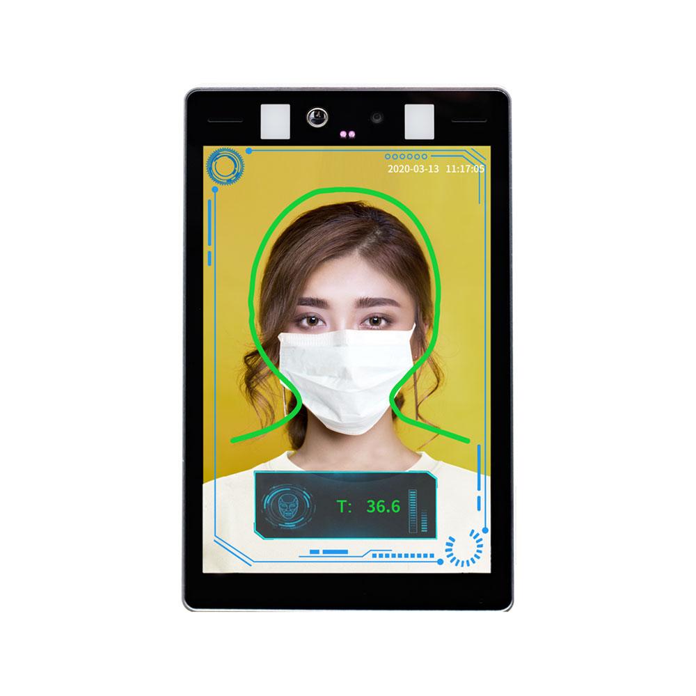 Controler de acces facial pentru detectare temperatura si masca TS3080-AI, 2 MP, 8 inch, 1.8 mm, precizie 0.3 grade imagine spy-shop.ro 2021