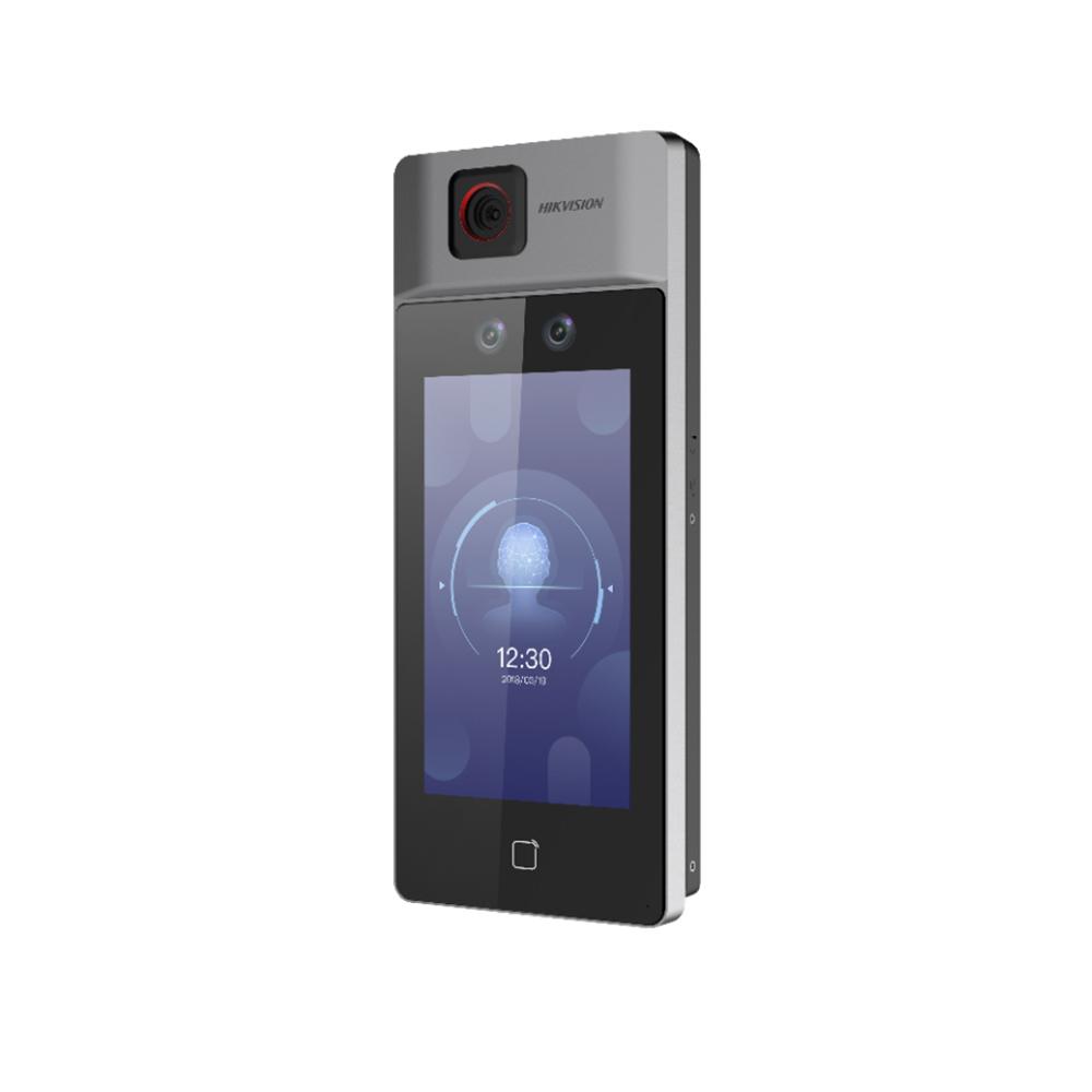 Controler de acces facial pentru detectarea temperaturii Hikvision DS-K1T671TM-3XF, precizie 0.1 grade imagine spy-shop.ro 2021