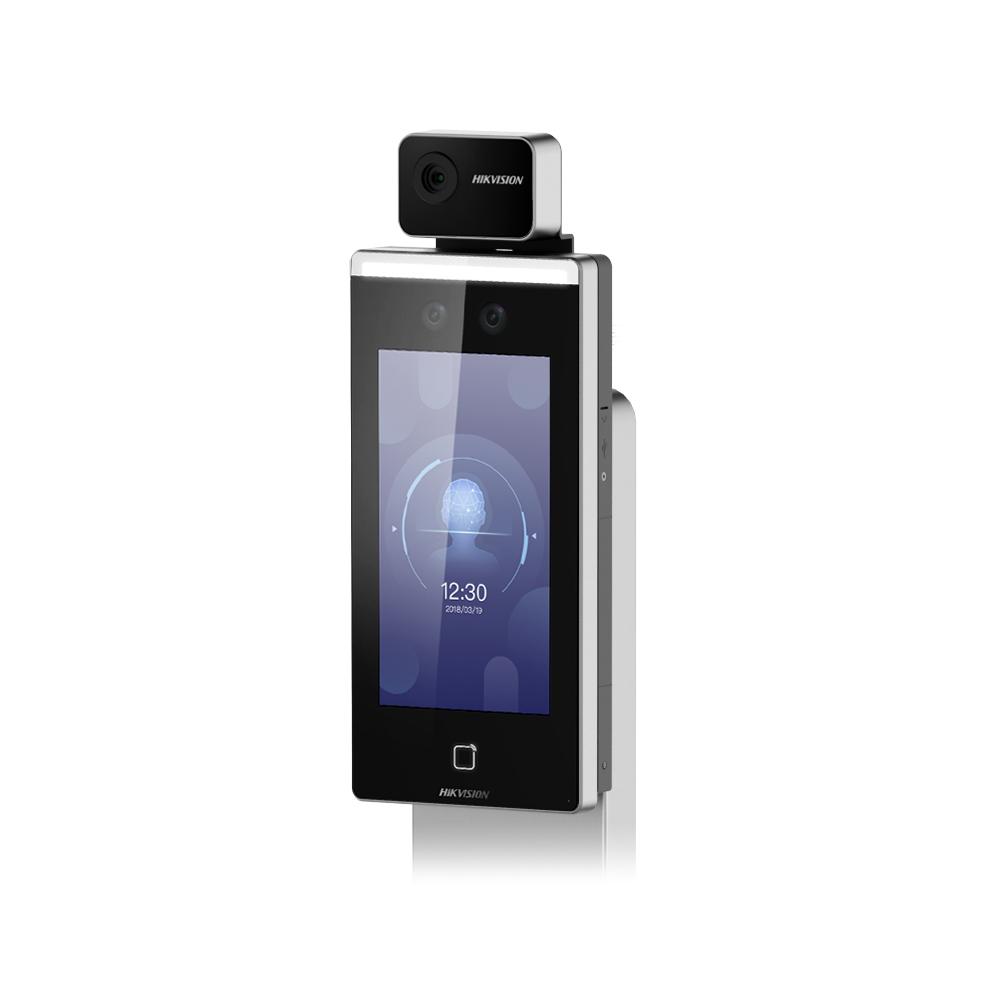 Controler de acces facial pentru detectarea temperaturii Hikvision DS-K1TA70MI-T, precizie 0.1 grade imagine spy-shop.ro 2021