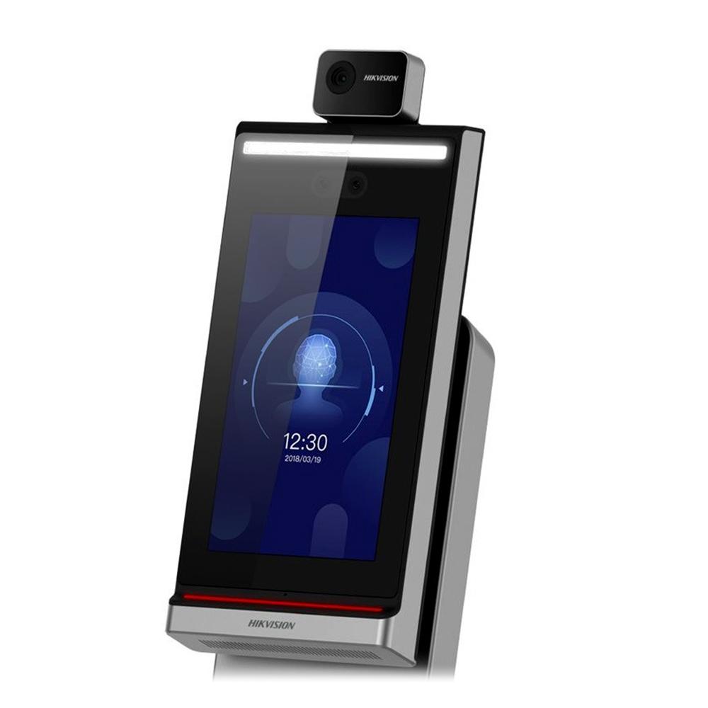 Controler de acces facial pentru detectarea temperaturii Hikvision DS-K5604A-3XF/V, precizie 0.1 grade imagine spy-shop.ro 2021