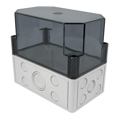 Cutie mica montaj module pe sina DIN Hochiki SMB-3, 20 intrari cablaj, IP66, capac transparent imagine spy-shop.ro 2021