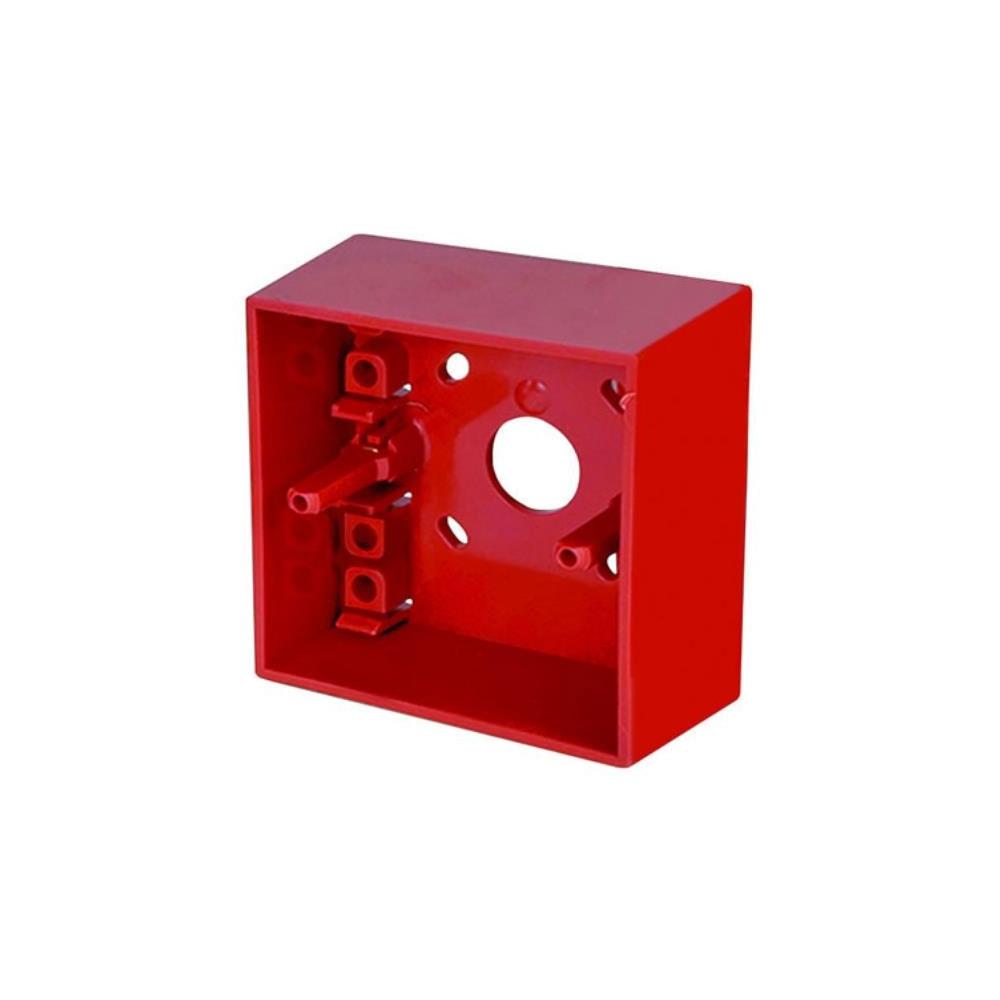 Cutie pentru buton de incendiu Hochiki SR MOUNTING BOX, montaj aparent, ABS, rosu imagine spy-shop.ro 2021