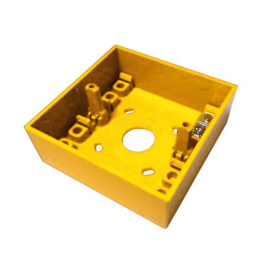 Cutie pentru buton de incendiu Hochiki SY MOUNTING BOX, montaj aparent, ABS, galben imagine spy-shop.ro 2021