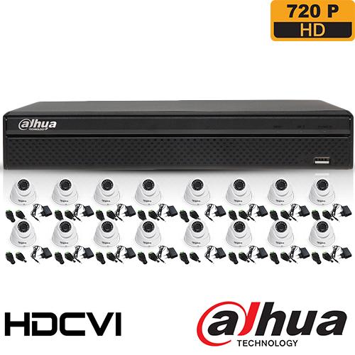 SISTEM SUPRAVEGHERE INTERIOR HDCVI CU 16 CAMERE VIDEO DAHUA CVI-16INT30-720P
