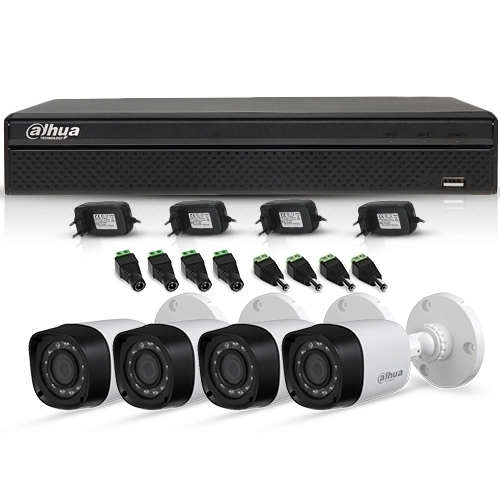 Sistem Supraveghere Exterior Hdcvi Cu 4 Camere Video Dahua Cvi-4ext20-720p