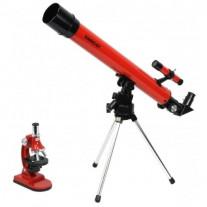 SET TELESCOP 50X50 SI MICROSCOP 900X TASCO