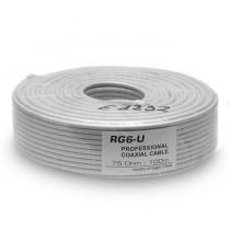 Cablu coaxial Alb 75 Ohm RG-6/U