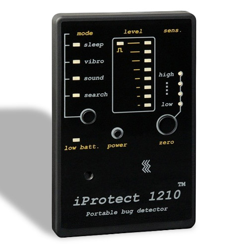 DETECTOR COMPACT ANTISPIONAJ RF DIGISCAN LABS iPROTECT 1210
