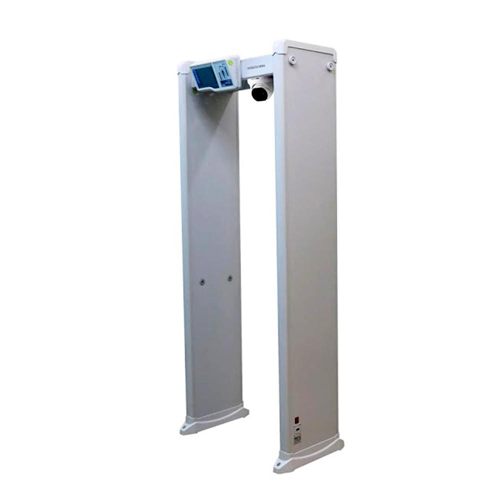 Detector de metale cu camera dome pentru detectarea temperaturii Hikvision ISD-SMG318LT-F, 4 MP, IR 15 m, 3 mm, stroboscop imagine spy-shop.ro 2021