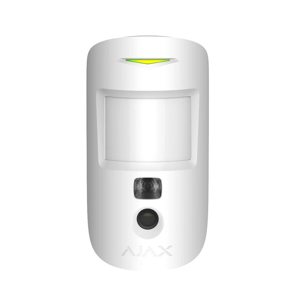 Detector de miscare wireless PIR cu camera Ajax MotionCam WH, 12 m, 640x480p, IR imagine spy-shop.ro 2021