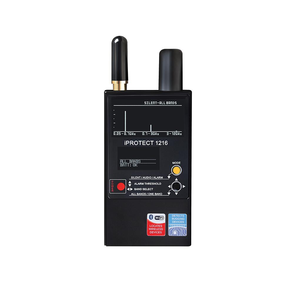 Detector RF profesional antispionaj Digiscan Labs iProtect 1216, 50MHz-12GHz, 6 ore, 3 benzi imagine spy-shop.ro 2021