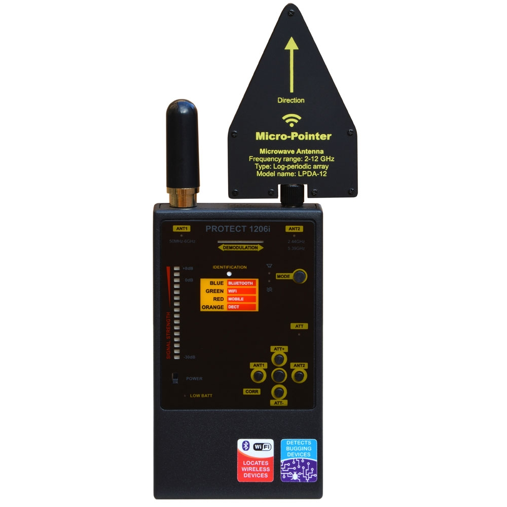Detector RF Profesional antispionaj Digiscan Labs PROTECT 1206I imagine spy-shop.ro 2021