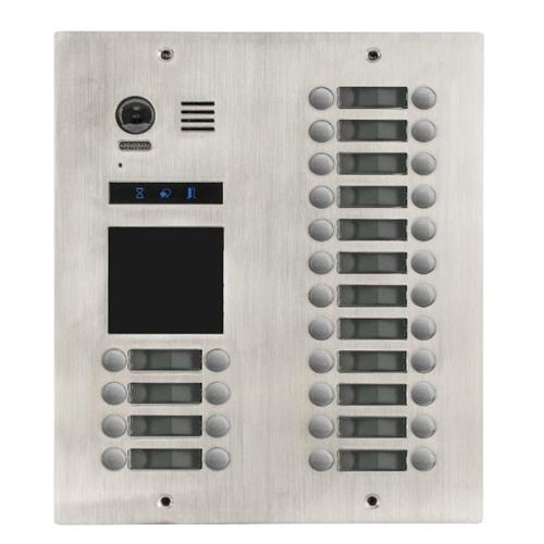 Videointerfon exterior modular DMR21-D32-F1, 32 familii, ingropat, bloc