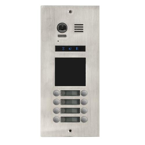 Videointerfon exterior modular DMR21-D32-F1, 8 familii, ingropat, bloc