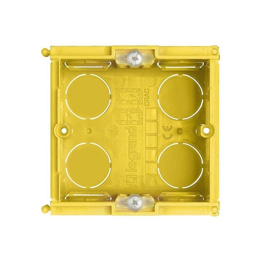 Doza patrata cu montaj ingropat 502E, 2 module, ignifugat imagine spy-shop.ro 2021