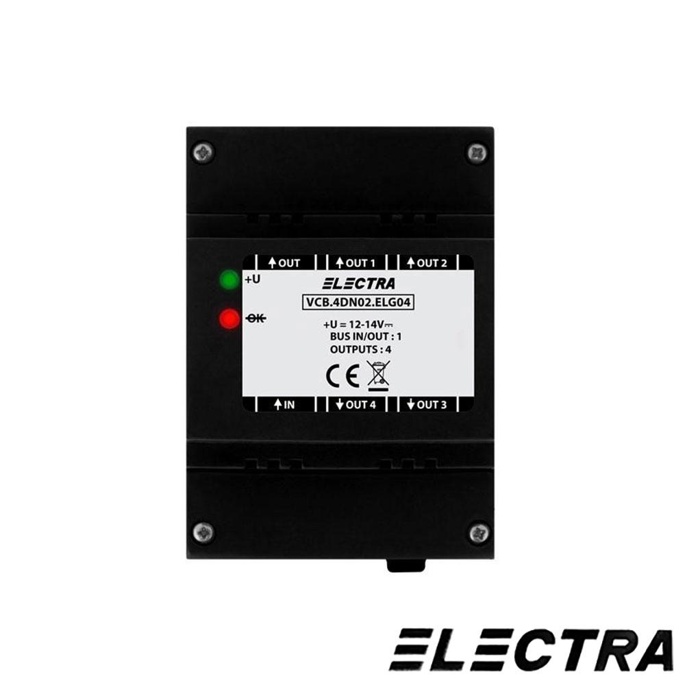DOZA SELECTIE CU 4 INTRARI VIDEO ELECTRA VSB.4DN02.ELG04