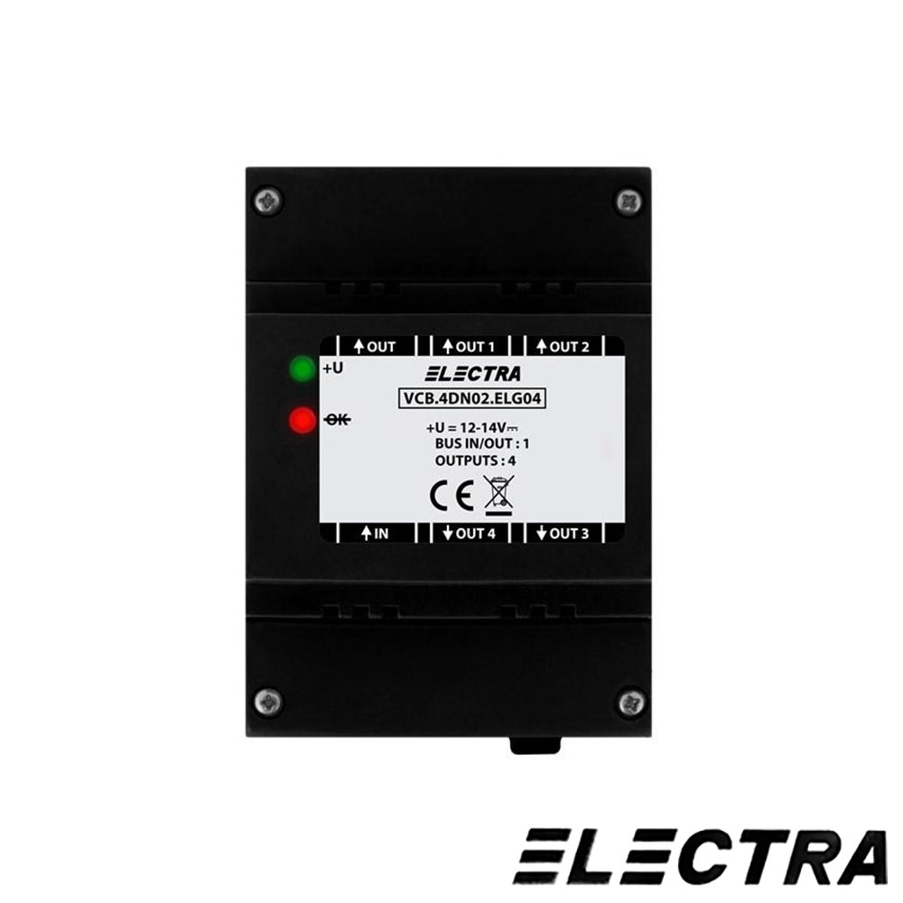 AMPLIFICATOR VIDEO CU 4 IESIRI ELECTRA DVA.4PS02.ELG04