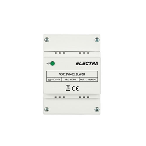 Doza derivatie video Electra VCB.4DR02.ELW0R , 4 iesiri, ABS