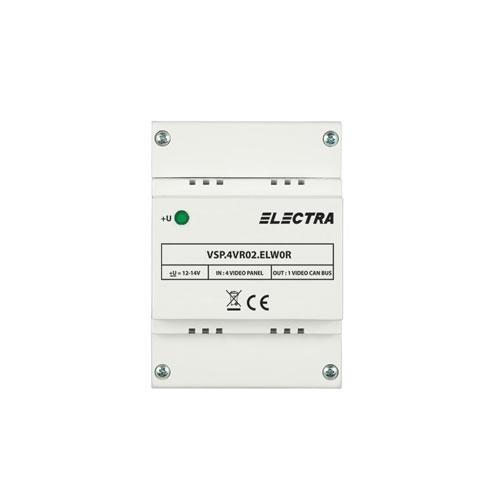 Doza selectie video Electra VSP.4VR02.ELW0R, 4 intrari, 4 fire