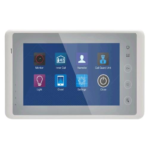 Videointerfon de interior DT27S-TD7-wh, aparent, touchscreen, 7 inch