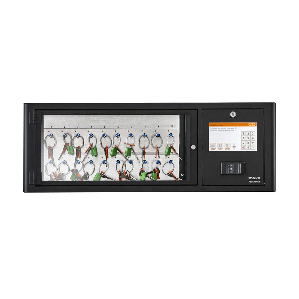 Dulap chei Traka M-Touch KC-9-0030, 20 chei, 20 tag-uri iFOB, cod PIN/card/amprenta, 40.000 utilizatori, soft close-down imagine spy-shop.ro 2021