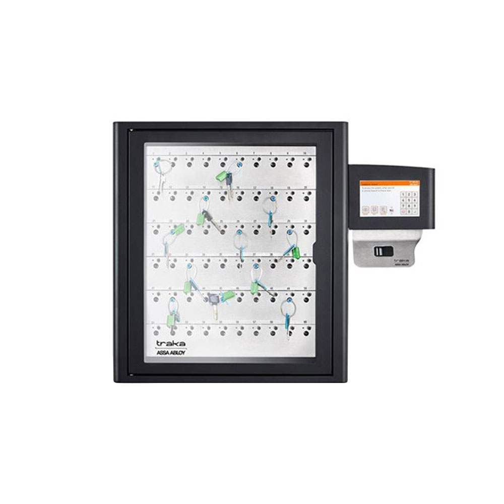 Dulap chei Traka S-Touch KC-9-0032, 60 chei, 40 tag-uri iFOB, cod PIN/card/amprenta, 40.000 utilizatori, soft close-down imagine spy-shop.ro 2021