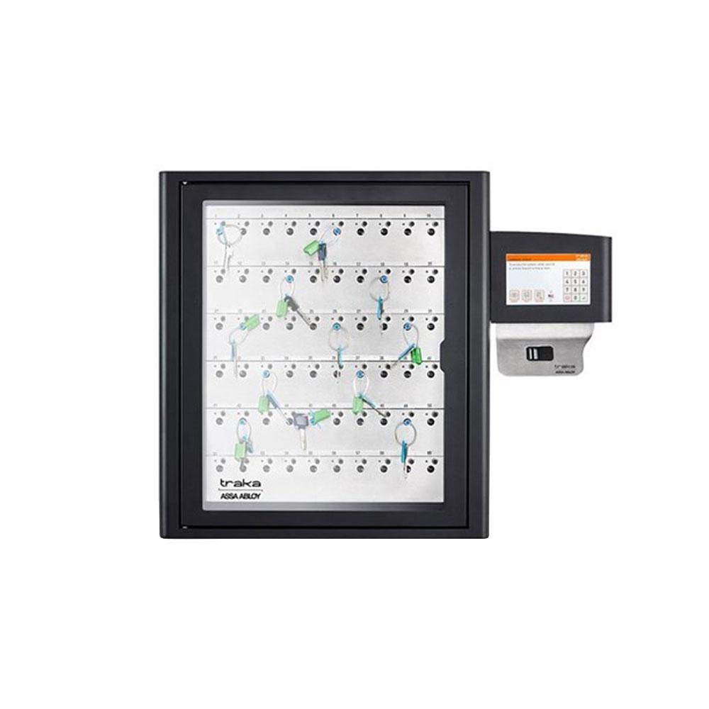 Dulap chei Traka S-Touch KC-9-0031, 60 chei, 20 tag-uri iFOB, cod PIN/card/amprenta, 40.000 utilizatori, soft close-down imagine spy-shop.ro 2021