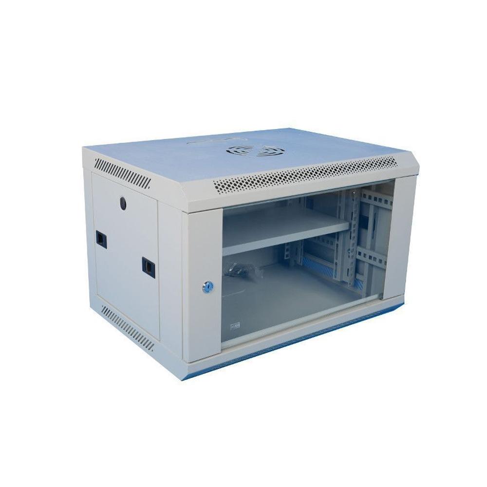 Cabinet rack metalic 19 inch WMF15U-600, geam securizat, greutate sustinuta 60 kg, 15U