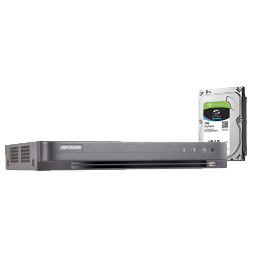 DVR HDTVI Turbo HD 4.0 Hikvision DS-7208HUHI-K1, 8 canale, 5 MP + HDD 1TB imagine spy-shop.ro 2021