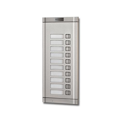 Extensie interfon exterior Genway WL-02NEK 1*10, 10 familii, ingropat, aluminiu imagine spy-shop.ro 2021