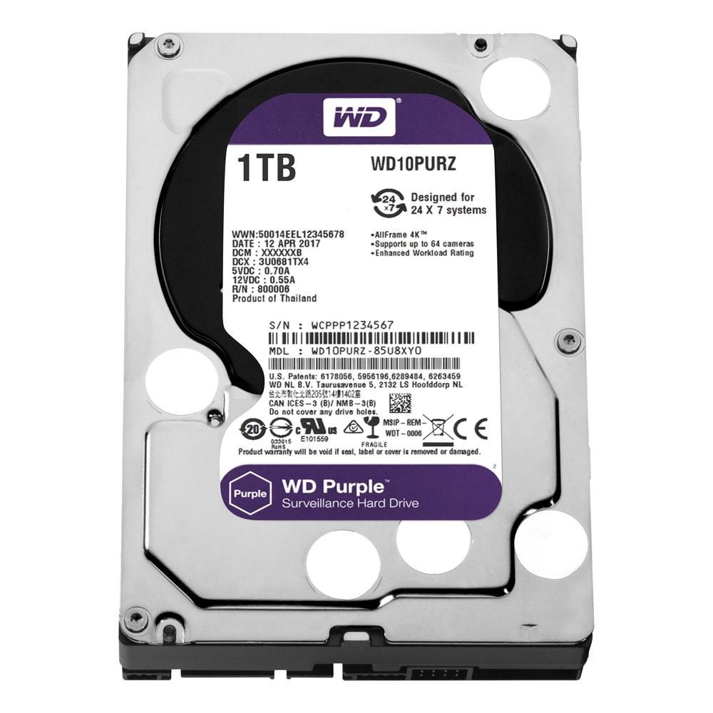 Hard Disk Western Digital Intellipower WD Purple WD10PURZ, 1TB, 64MB, 5400RPM imagine spy-shop.ro 2021