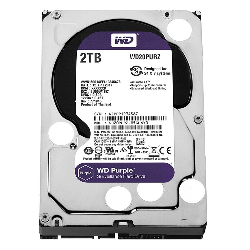 Hard Disk Western Digital Intellpower WD Purple WD20PURZ, 2TB, 64MB, 5400RPM imagine spy-shop.ro 2021