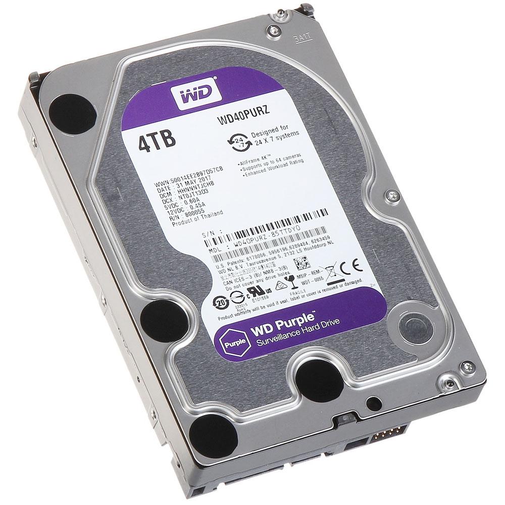 Hard Disk Western Digital Intellipower WD Purple, 4TB, 64MB, 5400RPM imagine spy-shop.ro 2021