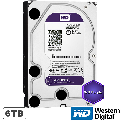 Hard disk Western Digital WD Purple WD60PURX, 6TB, 64MB, 5400RPM