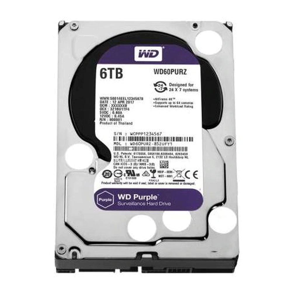 Hard disk Western Digital WD Purple WD60PURZ, 6TB, 64MB, 5400RPM imagine spy-shop.ro 2021