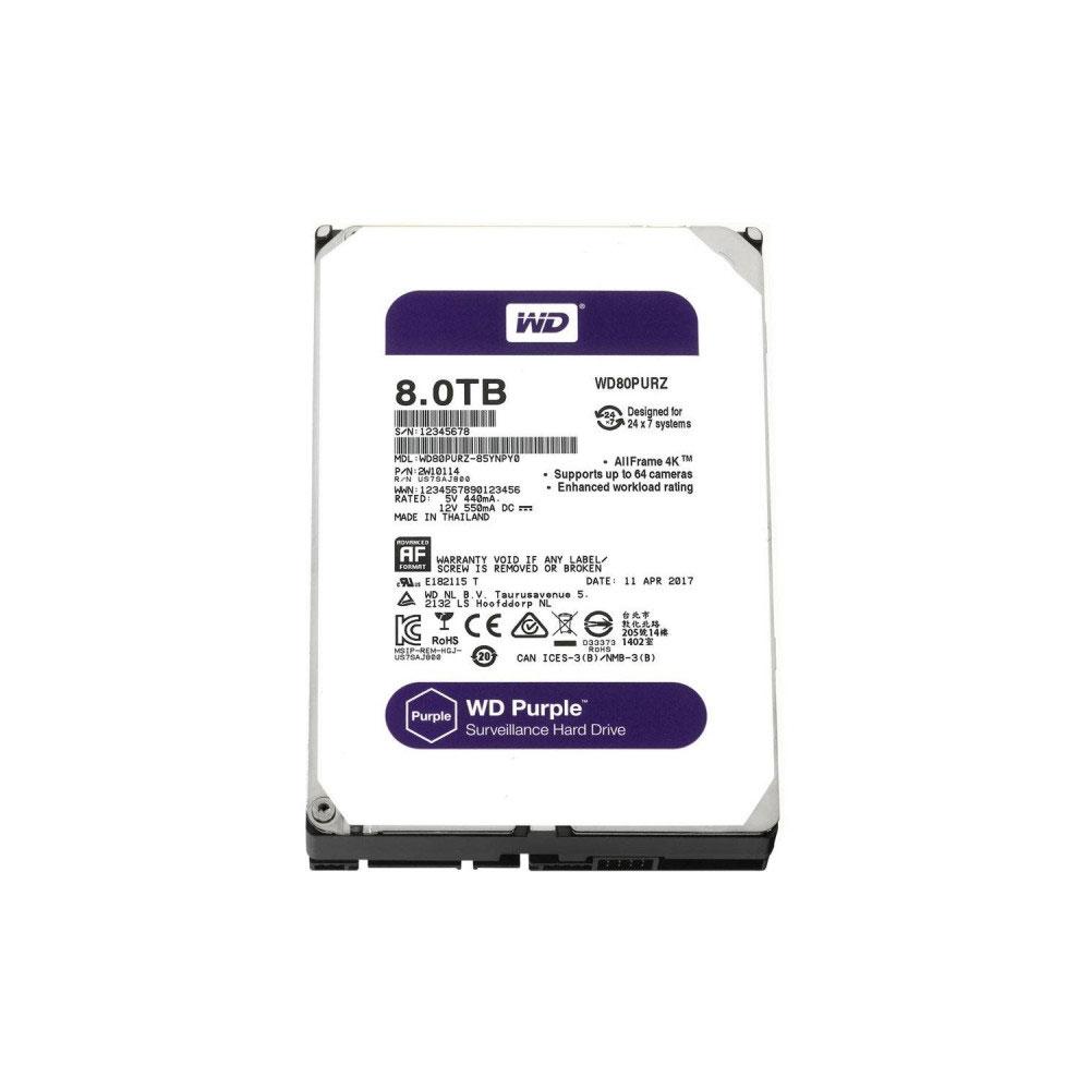 Hard Disk Western Digital Intellpower WD Purple WD80PURZ, 8TB, 128MB, 5400RPM imagine spy-shop.ro 2021