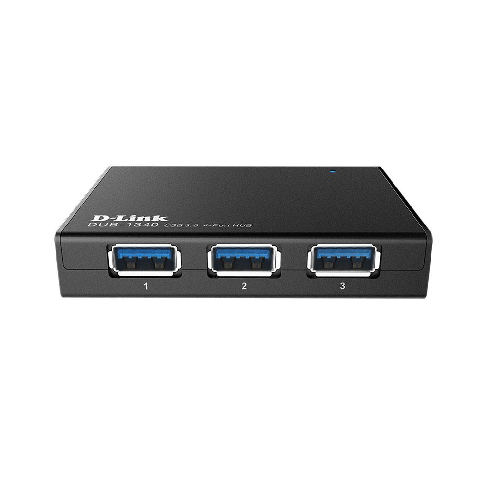 Hub D-Link DUB-1340, 4 porturi, USB 3.0, 5V, plug and play