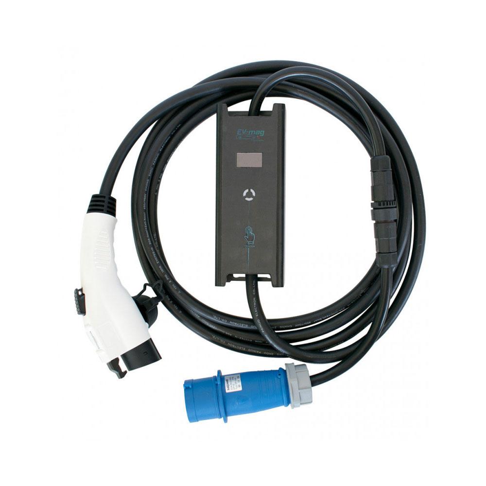 Incarcator portabil pentru masini electrice EV-MAG GSZ1-32B, 7.4 kW, 32A, type 1 imagine spy-shop.ro 2021